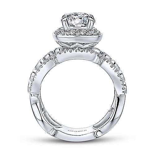 18K White-Rose Gold Diamond Engagement Ring