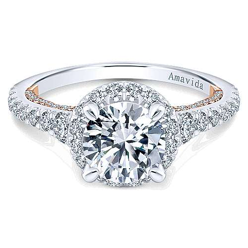 Gabriel - 18K White-Rose Gold Diamond Engagement Ring