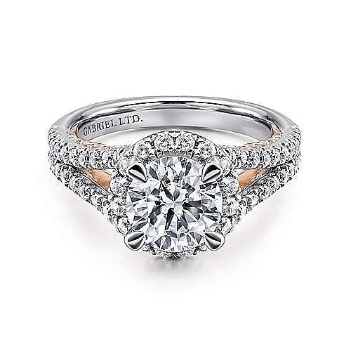 Gabriel - 18K White/Rose Gold Diamond Engagement Ring