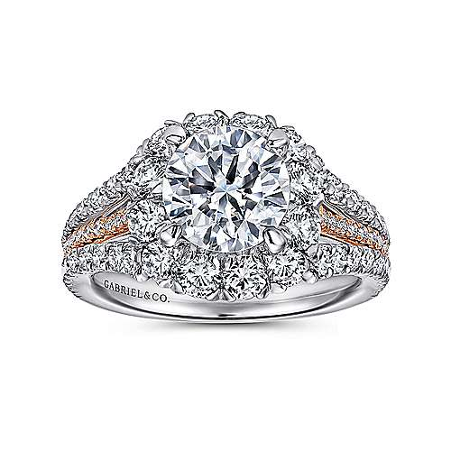 18K White-Rose Gold Engagement Ring