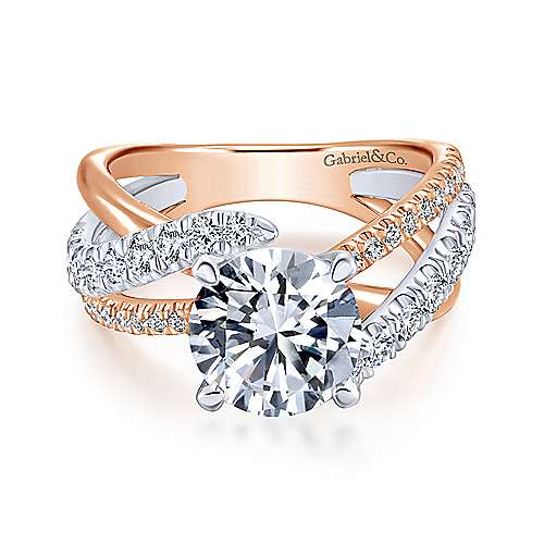 Gabriel - 18K White-Rose Gold Engagement Ring