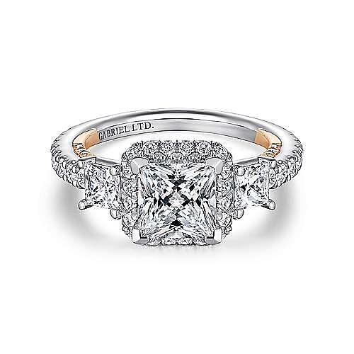 Gabriel - 18K White-Rose Gold Engagement Ring