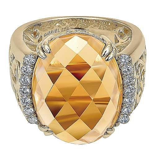 18K Yellow Gold  Fashion Ladies' Ring