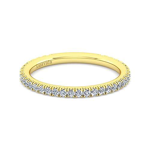 18K Yellow Gold Diamond Matching Wedding Band
