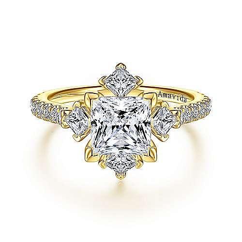 Gabriel - 18K Yellow Gold Engagement Ring