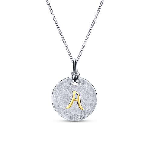 18K Yellow Gold-Silver Fashion Necklace