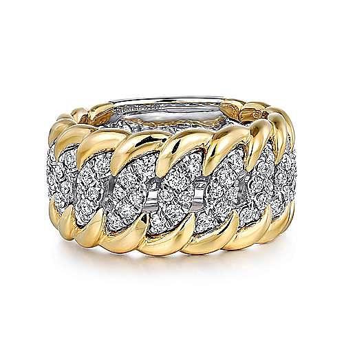 Gabriel - 18K Yellow-White Gold Fashion Ladies' Ring