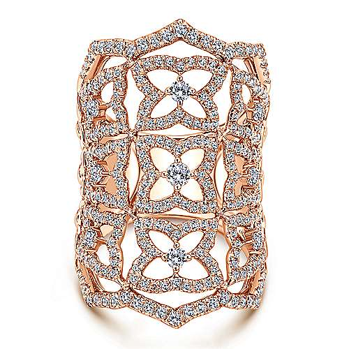 18k Rose Gold Allure Statement Ladies' Ring angle 1