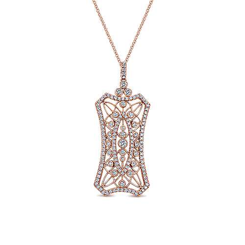 18k Rose Gold Art Moderne Fashion Necklace angle 1