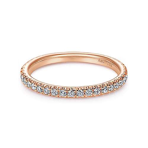 Gabriel - 18k Rose Gold Contemporary Straight Wedding Band