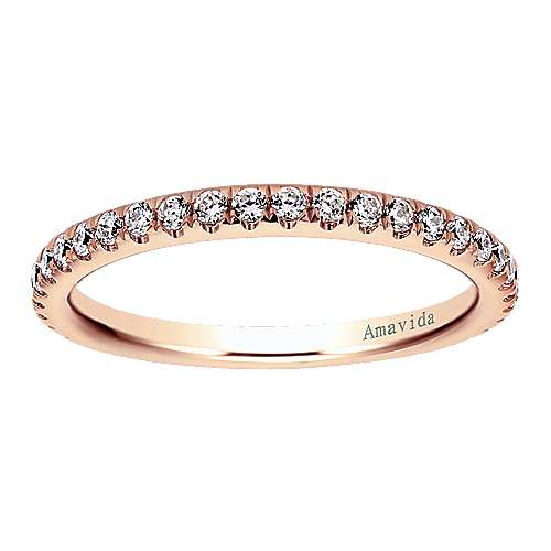 18k Rose Gold Wedding Band angle 5