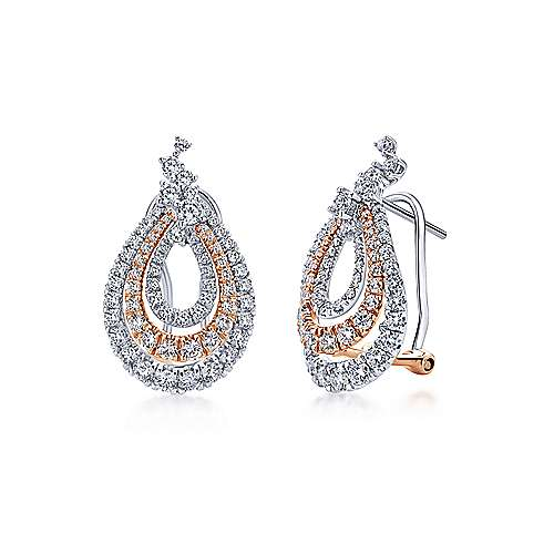 Gabriel - 18k White And Rose Gold Allure Drop Earrings