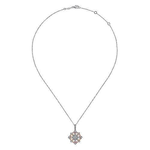 18k White And Rose Gold Allure Fashion Necklace angle 2