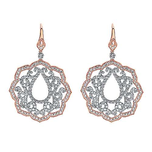 Gabriel - 18k White And Rose Gold Mediterranean Drop Earrings