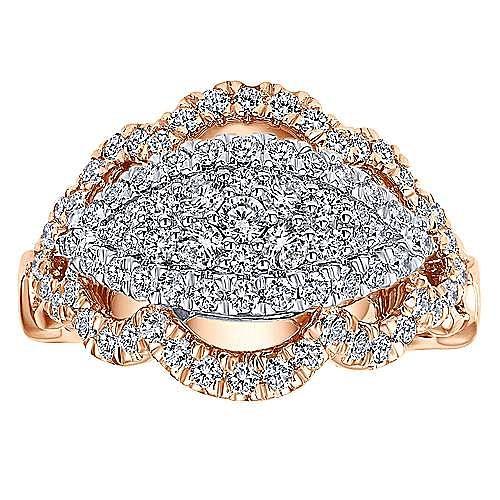 18k White And Rose Gold Mediterranean Fashion Ladies' Ring angle 4