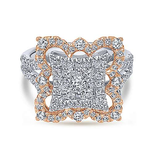Gabriel - 18k White And Rose Gold Mediterranean Fashion Ladies' Ring