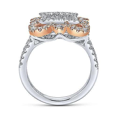 18k White And Rose Gold Mediterranean Fashion Ladies' Ring angle 2