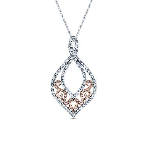 18k White And Rose Gold Mediterranean Fashion Necklace angle 1