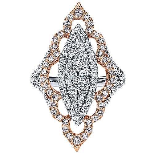 Gabriel - 18k White And Rose Gold Mediterranean Statement Ladies' Ring