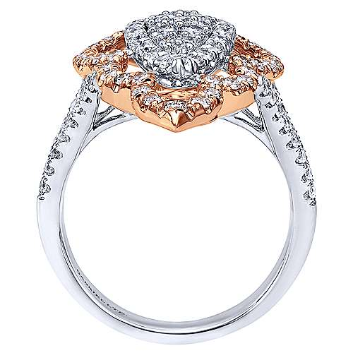 18k White And Rose Gold Mediterranean Statement Ladies' Ring angle 2