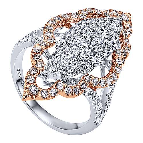 18k White And Rose Gold Mediterranean Statement Ladies' Ring angle 3