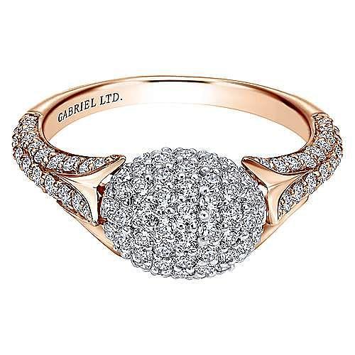 Gabriel - 18k White And Rose Gold Silk Fashion Ladies' Ring