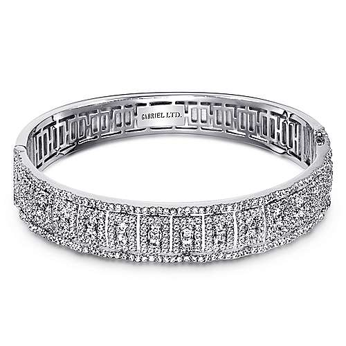 Gabriel - 18k White Gold Allure Bangle