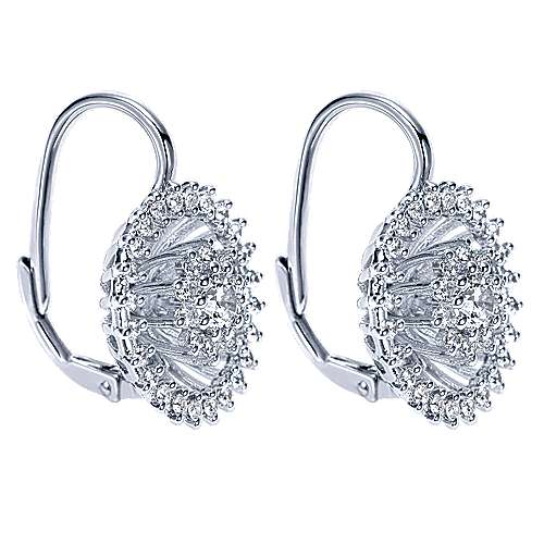 18k White Gold Allure Drop Earrings angle 2