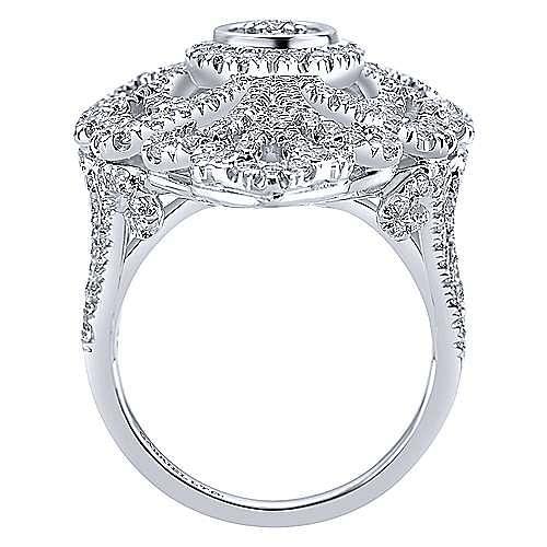 18k White Gold Allure Fashion Ladies' Ring angle 2