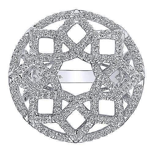 18k White Gold Allure Fashion Ladies' Ring angle 4