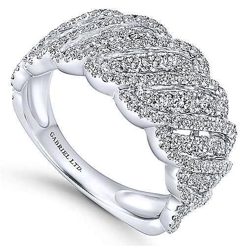 18k White Gold Allure Fashion Ladies' Ring angle 3