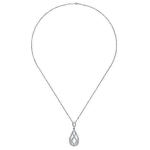 18k White Gold Allure Fashion Necklace angle 2