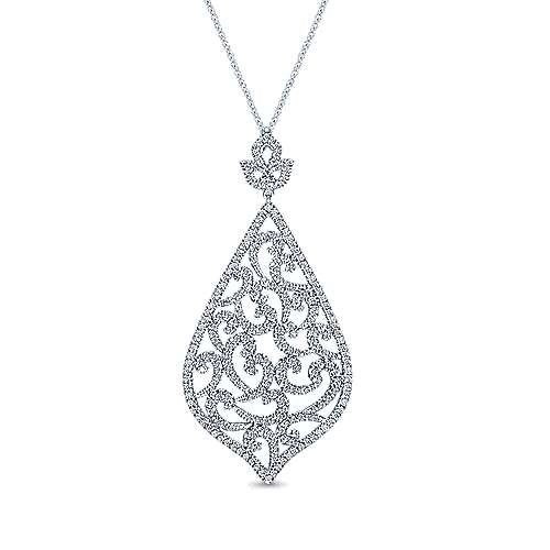 18k White Gold Allure Fashion Necklace angle 1