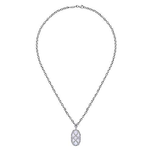 18k White Gold Allure Fashion Necklace angle 2