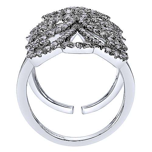 18k White Gold Allure Statement Ladies' Ring angle 2