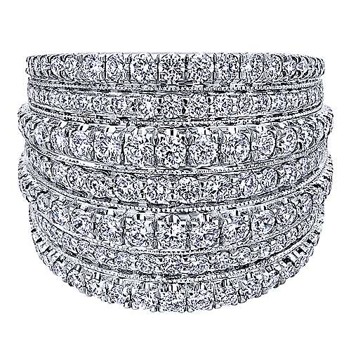 18k White Gold Allure Wide Band Ladies' Ring angle 1