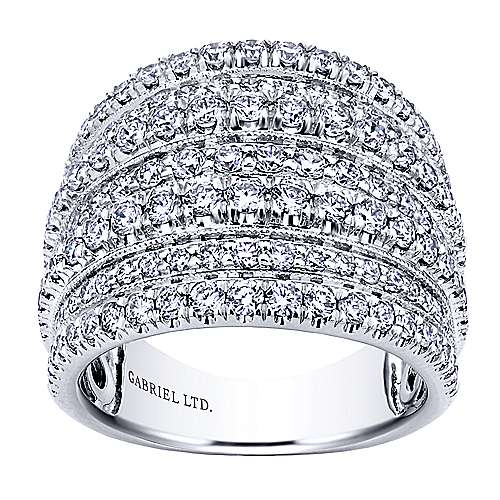 18k White Gold Allure Wide Band Ladies' Ring angle 4