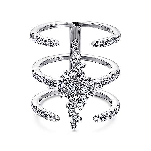 18k White Gold Amavida Fashion Statement Ladies' Ring angle 1