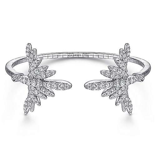 Gabriel - 18k White Gold Art Moderne Bangle