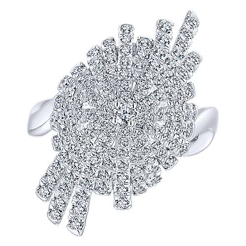 18k White Gold Art Moderne Fashion Ladies' Ring angle 4