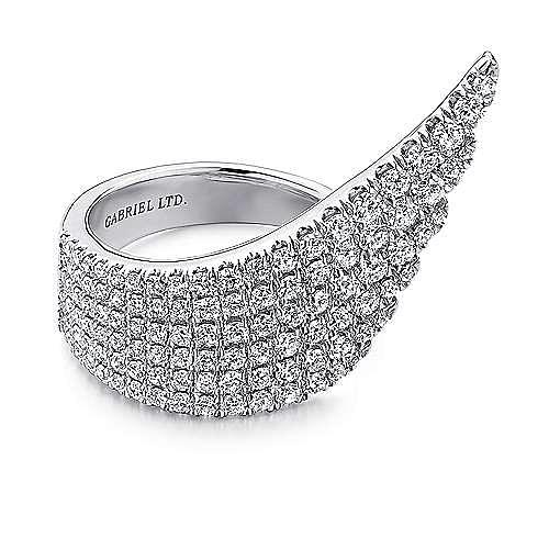 Gabriel - 18k White Gold Art Moderne Fashion Ladies' Ring