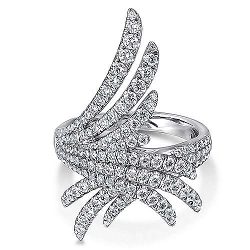 Gabriel - 18k White Gold Art Moderne Fashion Ladies' Ring