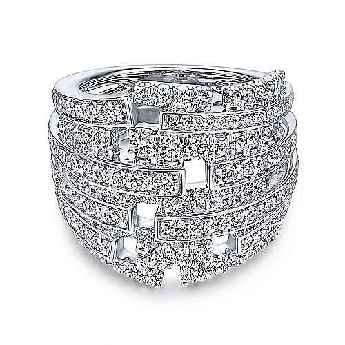 Gabriel - 18k White Gold Art Moderne Fashion Ladies Ring