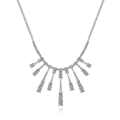 18k White Gold Art Moderne Fashion Necklace