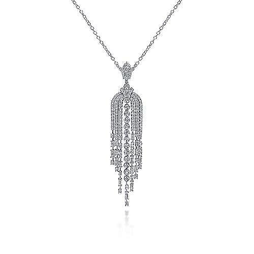 18k White Gold Art Moderne Fashion Necklace