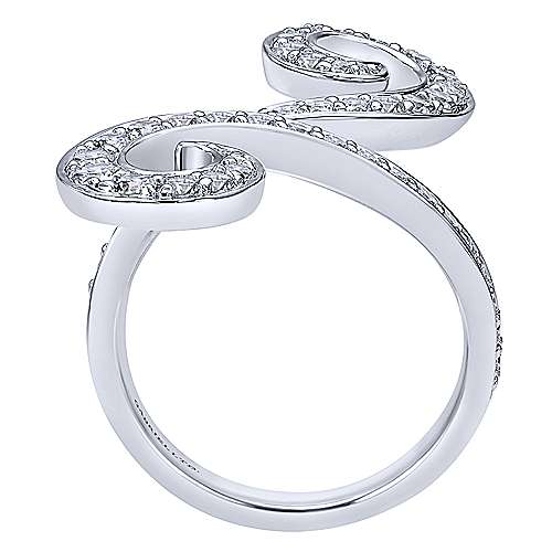 18k White Gold Contempo Fashion Ladies' Ring angle 2
