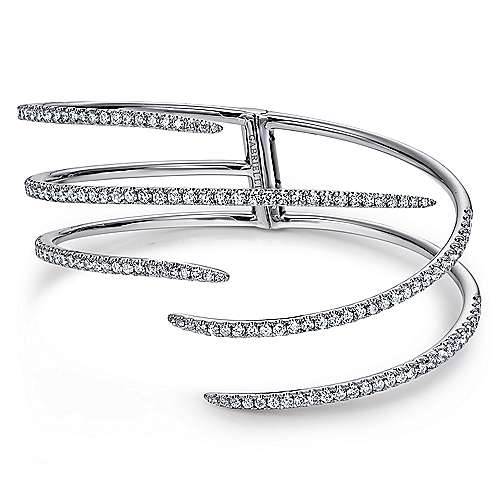 18k White Gold Contemporary Bangle