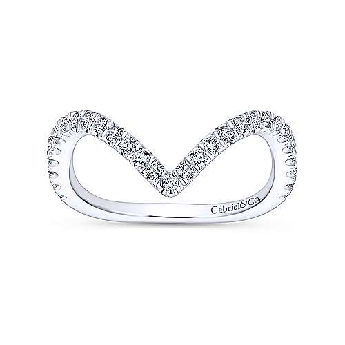 18k White Gold Contemporary Curved Wedding Band angle 5