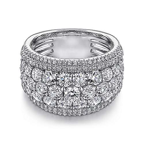 18k White Gold Contemporary Fancy Anniversary Band angle 1