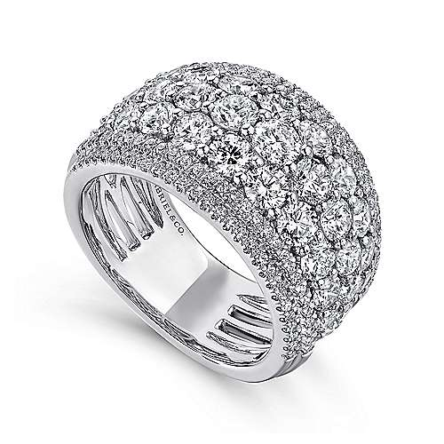 18k White Gold Contemporary Fancy Anniversary Band angle 3